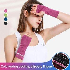 2 шт. Запястье Поддержка Дышащий ледяной охлаждающий теннисный браслет Wrap Sport Spirdband для тренажерный зал Yoga волейбол ручной пота1