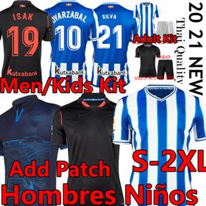 Thaïlande Real Sociedad Society 2020 21 Camiseta de Fútbol Silva Oyarzabal Portu Hommes Enfants Kits Adultes Hombres Niños Chemises de football Uniformes
