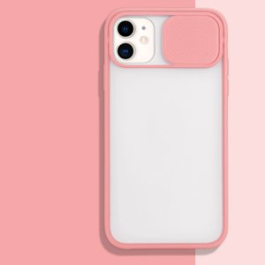 Frosted Translucent Shockproof Lens Slide Phone Cover For iPhone 12 mini 11 pro Max XR SE 2020 8 7 Plus 6s Slide Camera Hard Case