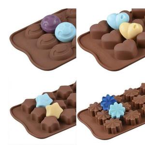DIY Chocolate Silicone Moules de Moules Simulation Cookie Moule de coeur Motif animal de cœur facile Démoulage cuisine Outils de cuisson E121601