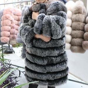 Kadınlar Sıcak Gerçek Kürk Uzun Kış Hakiki Kürk Ceket Moda Dış Giyim Kızlar Queentina Için Lüks Doğal Ceket
