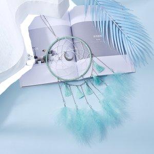 손 뜨개질 드림 넷 룸 블루 퍼플 바람 차임 펜던트 홈 가구 장식 사랑스러운 스타일 Dreamnet 크리 에이 티브 yys3597