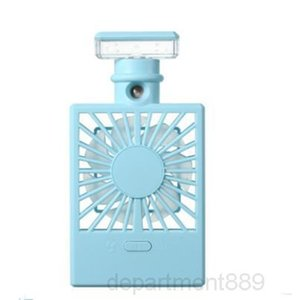 A-A-Perfume Bottle Spray Charging Cooling Fan Night Light USB Humidifier Fans Summer Office Portable Travel Accessory DHA307