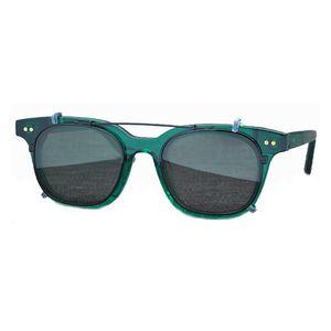 Nouveaux femmes italiennes Clip d'acétate polarisée ONS Polar Optics Sunglasses