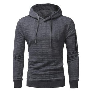 Autumn and winter new men's comfortable casual hoodie cover warm jacket large size.