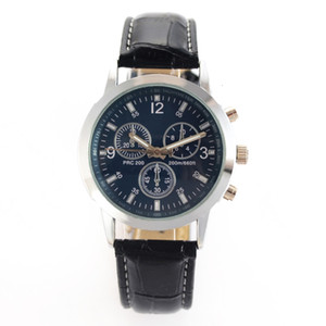 2020 Men Sport Leather Band Quartz Mens Watches No Brand Watch Best Gift relogio masculino Cheap Price Dropshiping