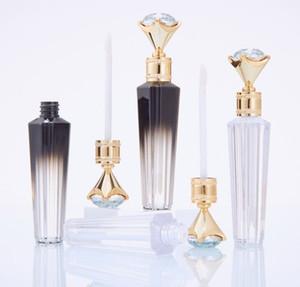 Fashion Diamond Lip Gloss Tubes Clear Empty Lip Gloss Tube Lip Gloss Travel Bottle Packaging Containers Refillable Lipgloss Bottles