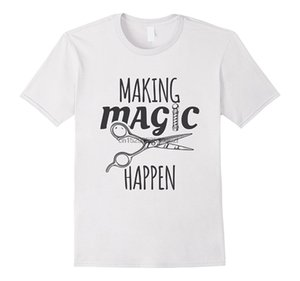 New Summer Making Magic Happen Barber Scissors Pole Gift Fashion Designers T Shirt Men Graphic Hoodie