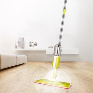 Squeeze Spray Mop Floor Mops Kitchen Bathroom Lazy Flat Mops with Reusable Microfiber Pads Household Cleaning Tools