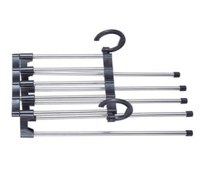 5-in-1 Stainless Steel Multifunctional Clothes Hanger Storage Pants Cloth Hangers Storage Rack Multilayer Cloth Hanger Closet Organizer