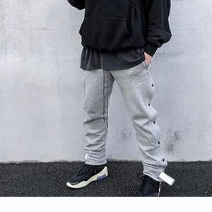 19SS Fear Of God FOG Dark Buckle Sweatpants Gray Classic Track Pants Vintage Street Casual Trousers Men Women Sport Pants HFYMKZ143