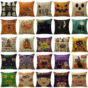 107 Designs Pillowcases Witch Pumpkin Design Cushion Cover Square Case Pillow Slip Halloween Decoration OWC2696