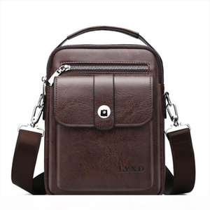 Style Mens PU Business Travel Messenger Bag A Variety Of Styles Solid Color Simple And Versatile Shoulder Bag Hot Sale