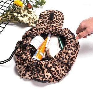 Сумки для макияжа для женщин леопардовые косметические сумки путешествия портативный прочный макияж сумка для хранения туалетных принадлежностей