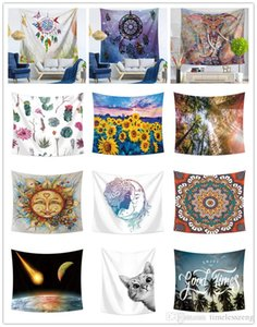 200*150CM Home wall hanging tapestry 200 designs mandala printing beach towel shawl bohemian tablecloth yoga mats mural wedding decoration