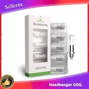 100% Original Airis The Headbanger Coils Q1 Dip Tip Coil Q2 Dab Coil Wax Vaporizer Electronic Cigarette Qcell Coils Ceramic coil for dip