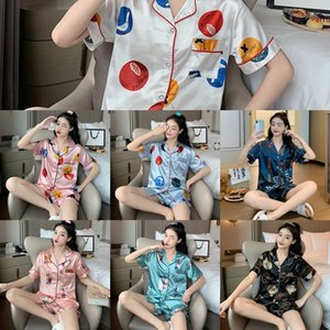 ITMB July 039; S SONG SONG STOYENS PYJAMAS SET DES FEMMES Sleepwear Sleepwear Warm Flanelle Dessin animé Manches Pajamas Rose Costume Homewear Long épais Home Mignon 201029