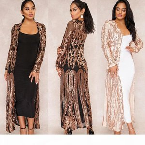 women cardigan coat Fashion sexy sequins Bikini Blouse Beach Cover Up Long sleeves casual party work for bodycon maxi Dresses