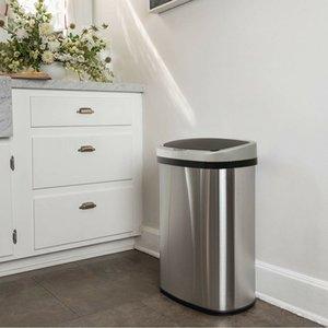Novo Sensor Livre de 13 Gallão Toque Automatic Trakless Lixeira Can Kitchen Office