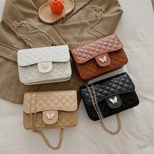 Мода многофункциональные кошельки и сумки для женщин PU New Mini плечо сумка 2020 Бабочка украшения Thread Просто Crossbody сумка