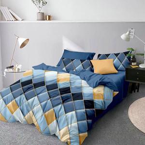LOVINSUNSHINE completa Bed Imposta Queen Cover Set King Size Cotton geometrica Copripiumino WW99 #