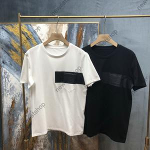 Été 2021 Nouveaux hommes Designer Luxe T-shirts Femme Classic Letter Impression Pocket T-shirt 100% coton T-shirt Casual Tshirt Tops Tee