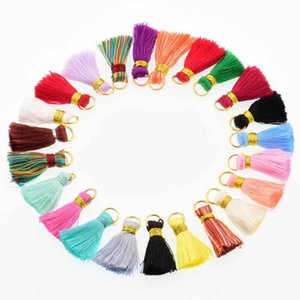 30pcs Mini Polyester Silk Tassel DIY Boho Bijoux Faire fournitures Collier Bracelet Trouver Fringe Garniture Pendentifs Petits Tassels H Jllrji