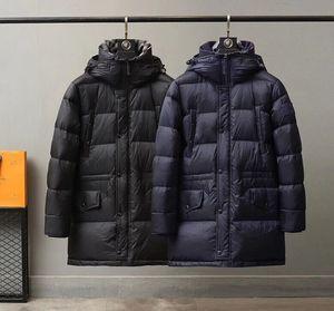 2020 человек зимняя куртка длинные парки Парки Касако Jaquea Masculino Утолщение теплых хлопка верхняя одежда меховой воротник пальто Parkas Chaquea Burb