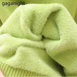 Gaganight Femmes Turtleneck Pull Solide Fashion Dame Pullovers Automne Hiver Épais Pulls Outwear Pulls Nouveau