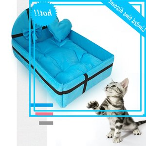 Nice Kisses Pets House Nest With Mat Warm Small Medium Dogs Removable Matras Cat Bed Dog Puppy Kennel