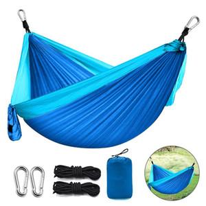 Portable Camping Parachute Hammock Survival Garden Outdoor Furniture Leisure Sleeping travel Single Hanging Bed swing set Z1202