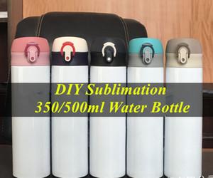 DIY التسامي القهوة السفر القدح 350ML 500ML الفولاذ المقاوم للصدأ شرب قارورة فراغ زجاجة معزول الماء يحافظ على BPA خالية الباردة