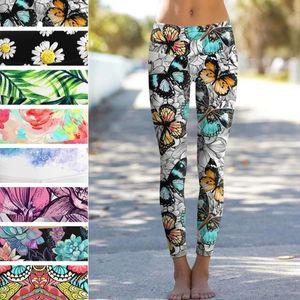 Workout leggings Slim Butterfly Daisy Leaf Lemon Digital Print Leggings Women Sporting Pants Fashion Women's Fitness