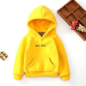 New Kids Oh Yes Hoodies Girls Sweatshirts Autumn Winter Children Hoodies Long Sleeves Boys Warm Sweater Kid T-shirt Clothes F1203