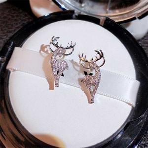 Stud 2021 donne orecchino anelli ornamenti creativi eleganti natalizi di natale elk cervi di cristallo orecchini ragazze gioielli moda