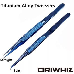 High Precise Titanium Alloy Tweezers Fly Line Motherboard Repair Tool Fingerprint Jump Wire Antimagnetic Electronics Tweezer