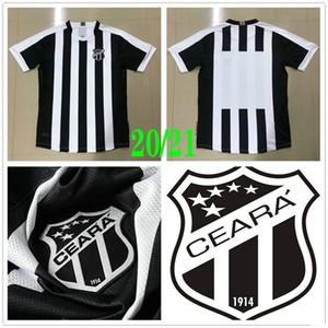 2020 2021 SC Ceara Football Maillots Sobis Carvalho Goncalves Oliveira Cleber Jacare Fabinho Goes Lima personnalisée 20 21 Maison noire de football shirt