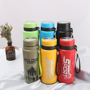 Plastic Shell Glass Cup Outdoors Portable Sport Tumblers Advertisement Gift Water Bottle Pure Color Heat Resistant Hot Selling 6txa J1