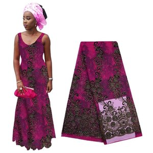 2020 Luxury Lace Fabric Heavy Beaded Embroidered African French Tulle Lace Fabric High Quality Nigerian For Woman Dress