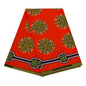 новый 6Yards / Lot Африканского Farbic красного фон Анкара Полиэстер Ткань Шитье Африканская Ткань для женщин вечернего платья