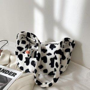 Cow cute hundred with Japanese cartoon girl Sen line plush waist bag small fresh oblique ins Harajuku student oblique