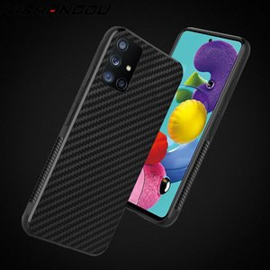Carbon Fiber Phone Case For Samsung Galaxy A51 A71 A70 A50 S20 Ultra S10 Plus Note 10 Lite A21S A31 A41 Soft Silicone Back Cover