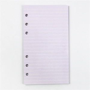 A6 Six-Hood Lold-Leake Notebook Inner Core 5-Color Multi-Country Справочник по настраиванию на заказ страницы с цветными внутренними страницами A07 136 K2