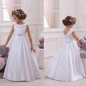 Blumenmädchenkleider für Hochzeit Elegante erste Heilige Kommunion Pageant Kleid Für Mädchen Abschlusskleid Kleid Gown Govestido de Daminha