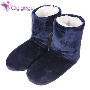 Glglgege High Quality Winter Warm Shoes Skid Soft Bottom Indoor Home Shoes Warm Plush Indoor Boots For Men Women Floors Shoes