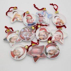 DIY Fotoğraf Topu Noel Hediyeleri Fotoğraf Top Klip Yuvarlak Beş Yıldızlı Noel Ağacı Süsler Düğün Hediyesi DHD3078
