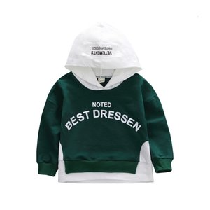 New Spring Autumn Fashion Baby Clothes Boys Girls Cotton Leisure Hooded Sweatshirts Infant Letter Blouse Kids Outing Costume