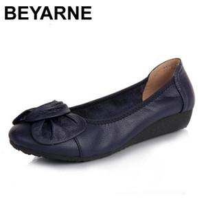 Beyarne Hakiki Deri Kadın Flats, Moda Sivri Burun Bayanlar Bale Düz Marka Tasarımcısı Balerin Flats Ayakkabı Kadın Ayakkabı C1120