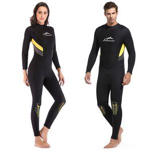 Professional 3mm Women Neoprene Wetsuit Elastic Soft Swimsuit zipper Long Diving suit Sleeve DivingEquipment bodysuit