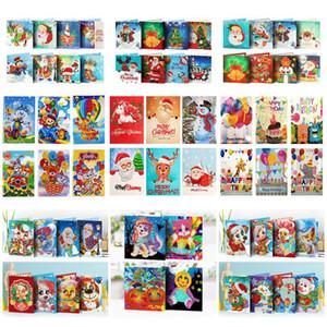 AZQSD DIY Diamond Painting Mosaic Greeting Card Special Shaped Christmas Cards Postcards Birthday Gift 2020 Full Set